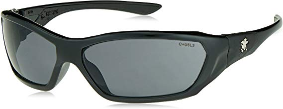 MCR Crews ForceFlex FF122 Safety Glasses, Ballisitic Gray Lens and Opaque Black Frame