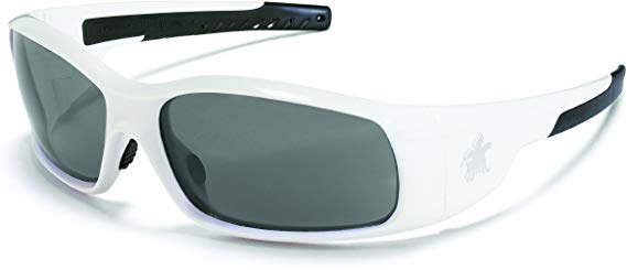MCR Swagger Brash Look Polycarbonate Dual Lens Glasses with Polished White Frame and Gray Anti-Fog Lens