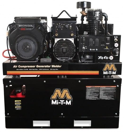 Mi-T-M Two Stage Gasoline - 29/30.5 CFM - 90/175 PSI - 688cc Honda GX690 OHV w/ Electric Start (Battery Cables Included; Battery Not Included) (1587311771683)