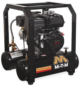 Mi-T-M Single Stage Gasoline Portable Air Compressors 4.8 CFM- 90 PSI - 5 gal