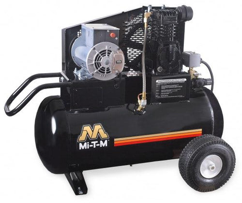 Mi-T-M Single Stage Electric Portable Air Compressors 9.2 CFM- 90 PSI - 20 gal