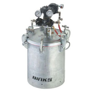 Binks 183G 2 Gallons ASME Galvanized Carbon Steel Pressure Tank - Double Regulated & 15:1 Gear Reduced Agitator