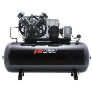 Campbell Hausfeld 120 Gallon 2 Stage - 3 Phase Horizontal Compressor - 15 HP