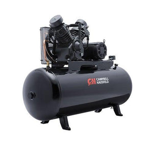 Campbell Hausfeld 120 Gallon 2 Stage - 3 Phase Horizontal Compressor - 10 HP