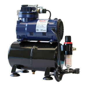 D3000R 1/5 HP Oil-less Piston Compressor w/ Tank & Regulator