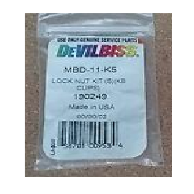 Devilbiss MBD-11-K5 Lock Nut Kiy (5) (KB Cups)