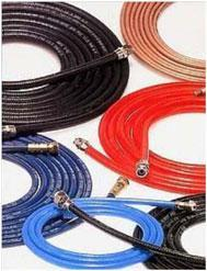 "Exitflex USA 1/4"" x 6 ft. WE24 Series High Pressure Hose 8,000 PSI"