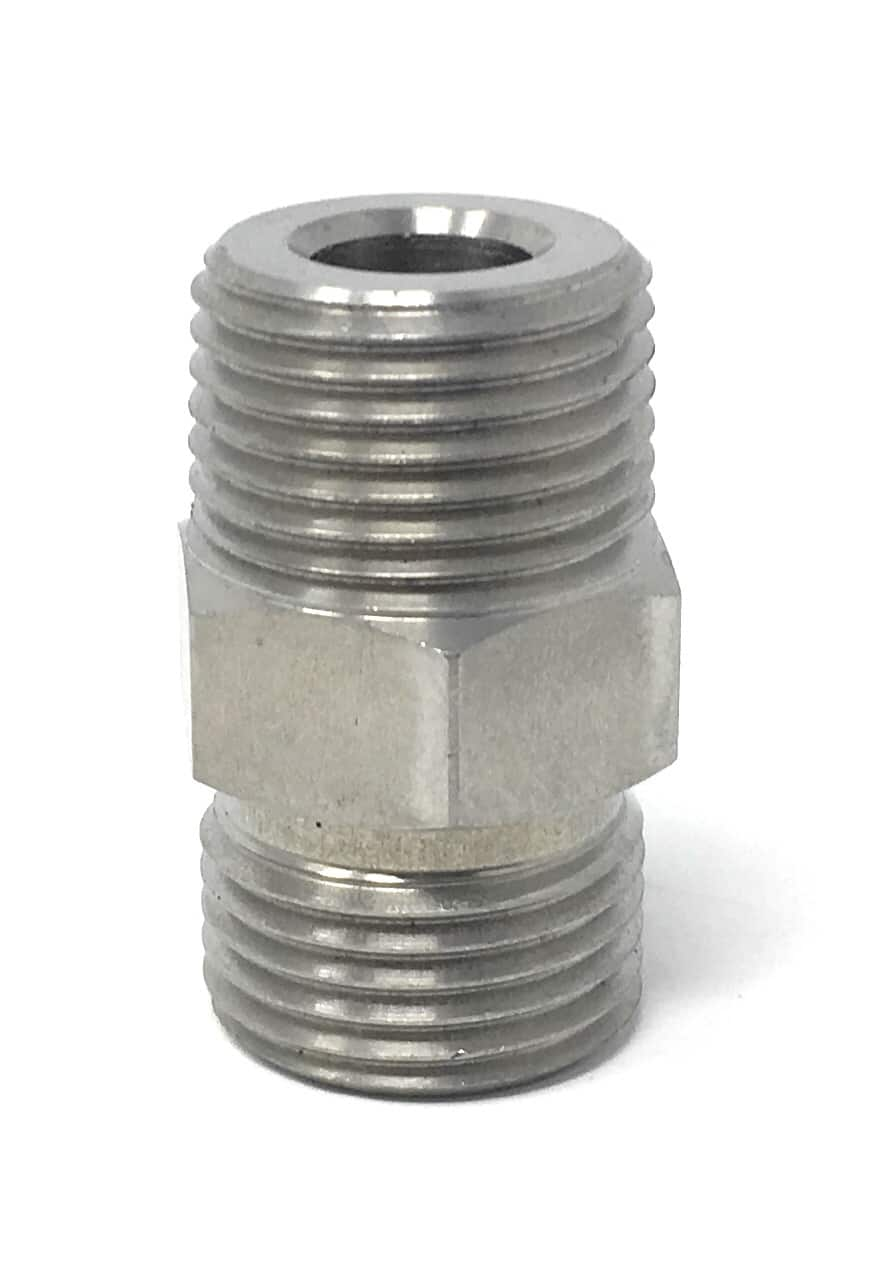 binks 83-2055 nipple 3/8 npt x 3/8 nps