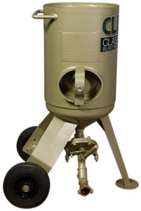 Clemco 2 cu ft Classic Blast Machine Model 1642 with Flat Sand Valve (FSV), Portable - 1 inch Piping