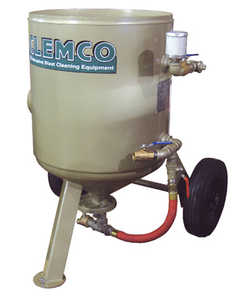 Clemco 6 cu ft w/ Lo-Pot Valve (LPV) Classic Blast Machine Model 2443 - Portable 1-1/4 inch Piping - Without Remote