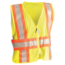 Load image into Gallery viewer, OccuNomix LUX-SC2TZ Premium Mesh Two-Tone Expandable Safety Vest - Yellow/Lime - 1/EA