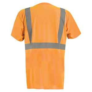OccuNomix LUX-SSETPBK Type R Class 2 Black Bottom Safety T-Shirt - Orange with Black Bottom - 1/EA