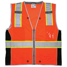 Load image into Gallery viewer, MCR River City SURVCL2O Type R Class 2 Heavy Duty Mesh Surveyor Safety Vest - Orange - 1/EA