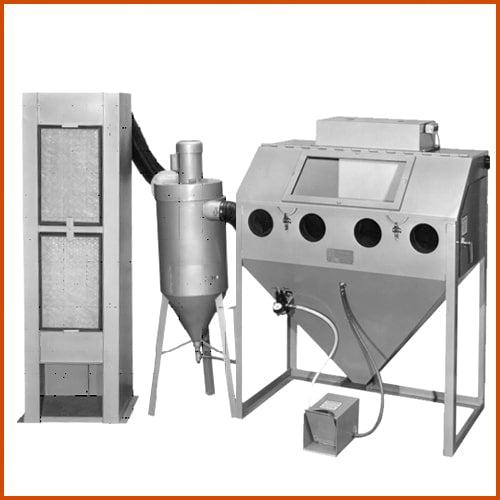 TRINCO™ Model 48 DELUXE with 450 CFM Abrasive Separator (Size 48 x 24)
