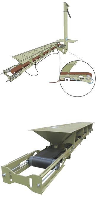 Belt Conveyors have less parts exposed to abrasive media leading to longer life than other sandblast media recovery systems.