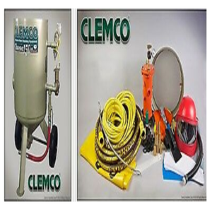 "Clemco 11260 3 Cubic Foot Blast Machine Packages with 1-1/4"" piping 16"" diameter Flat Sand Valve - Apollo HP SaFety Gear"