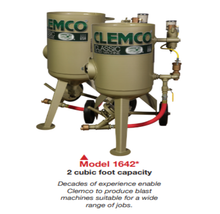 Load image into Gallery viewer, Clemco 2 cu ft Classic Blast Machine Model 1642 with Flat Sand Valve (FSV), Portable - 1 inch Piping