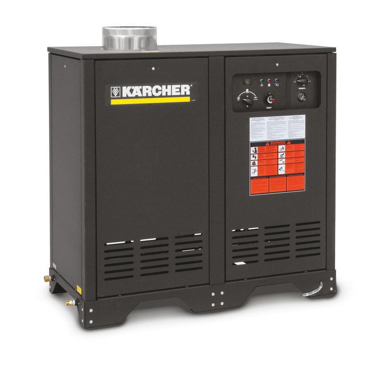 K'A'RCHER German Engineered 2200 PSI @ 4.5 GPM Direct Drive 9.5hp 230V Single Phase K'a'rcher Axial  Electric Hot Water Pressure Washer LP Gas Heated