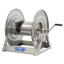 "Cox Hose Reels -1125 SS ""Stainless Steel"" Series - Hand Crank - 17.63"" Length (1587268681763)"