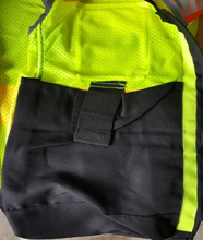 Load image into Gallery viewer, Majestic 75-3239 High Visibility Mesh Vest with DOT Reflective Chainsaw Striping - Hi-Vis Yellow - 1/EA