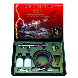 Millennium Double Action Airbrush Set - Size 3 (0.74 mm) (1587594133539)
