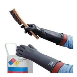 Showa 558 Heavy-Duty Natural Rubber Chemical Resistant Gloves - 12Pr/Pk