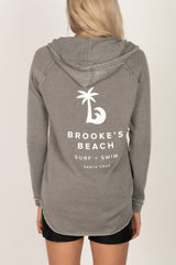 Vintage Washed French Terry Sweatshirts-Charcoal - Brookesbeach.com