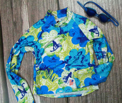 Children and Toddler's RashGuards-Blue/Surfrider - Brookesbeach.com