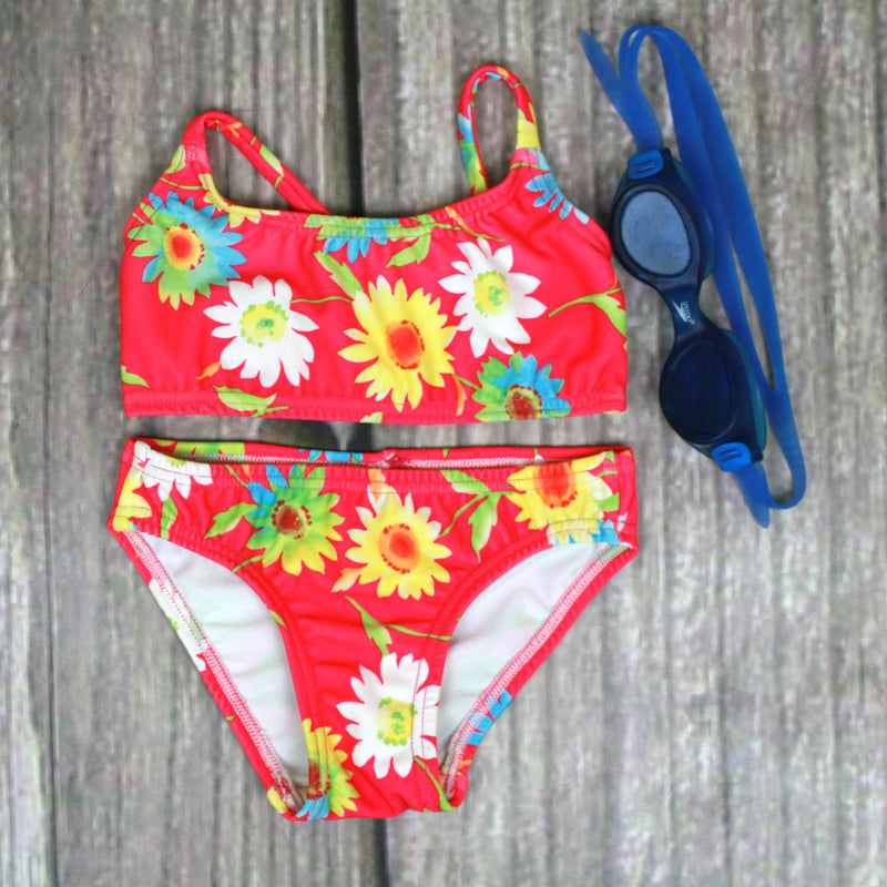 Sunset Two Piece T-Back Tank Girl's Swimsuit