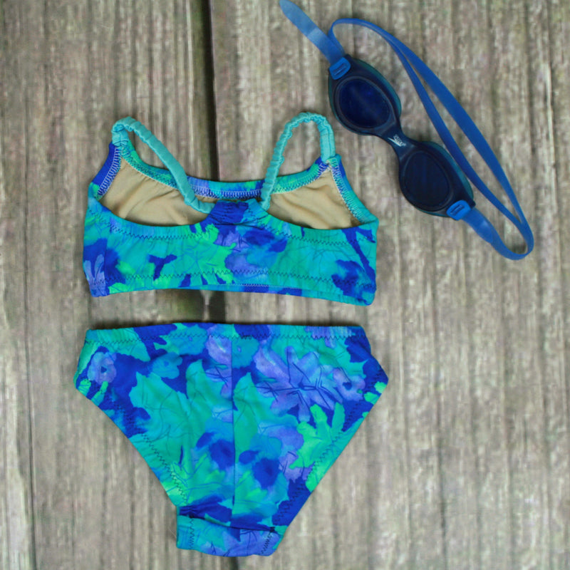 Sunset Two Piece T-Back Tank Girl's Swimsuit - Brookesbeach.com
