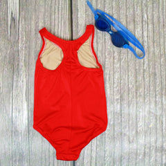 Seascape 1-Piece Racer Tank Girl's Swimsuit - Brookesbeach.com