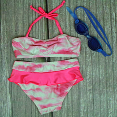 New Brighton 2-Piece Bandeau Ruffle Swimsuits