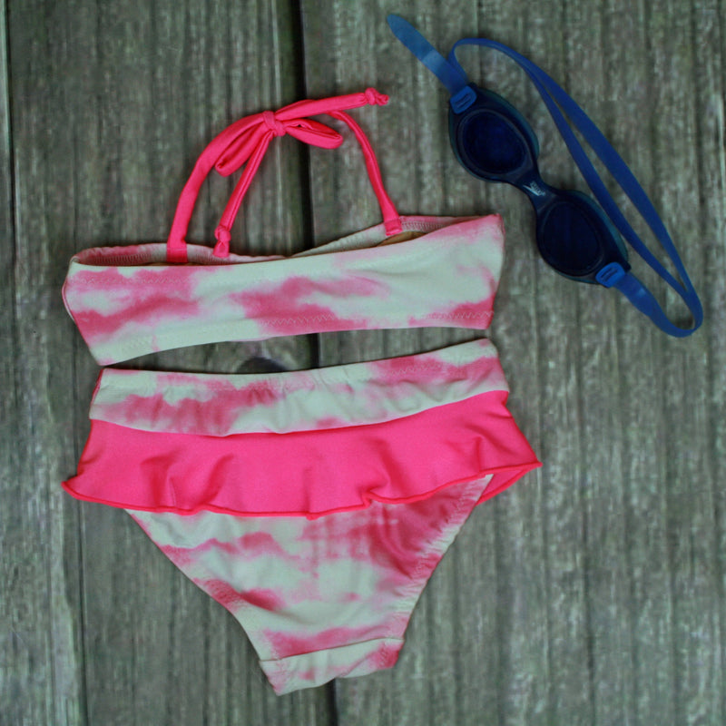 New Brighton 2-Piece Bandeau Ruffle Swimsuits - Brookesbeach.com