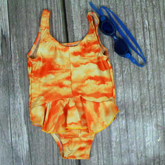 Harbor Beach One-Piece Girl's Swimsuit with Ruffle