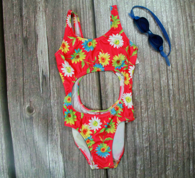 Natural Bridges One-Piece Girl's Cutout Swimsuits - Brookesbeach.com