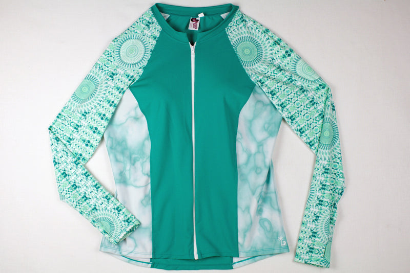 Women's Tropical Aqua Rashguards UPF
