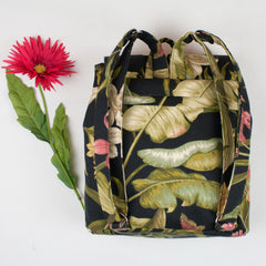 YouGo Backpack-Purse-Black Hawaii Print - Brookesbeach.com