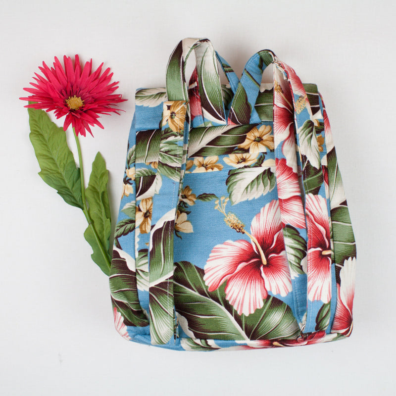YouGo Backpack-Purse-Blue Hawaii Print