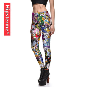 302243bf5ac Hipsterme Sonic 3D Printed Fitness Leggings Fashion Legging Workout Leggins  Female Legins Sexy Pencil Pants High Waist Trousers