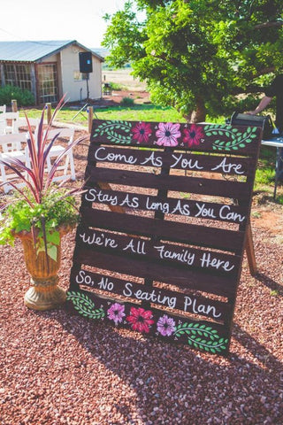 Country Wedding Seating Plan Sign
