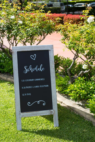 Curzon Hall Wedding Schedule Blackboard Sign - Vintage By Kaimi