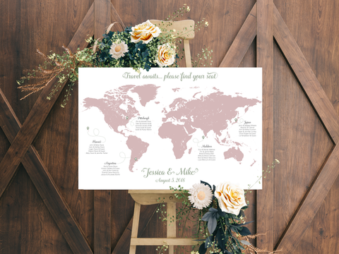 Travel Wedding Seating Chart