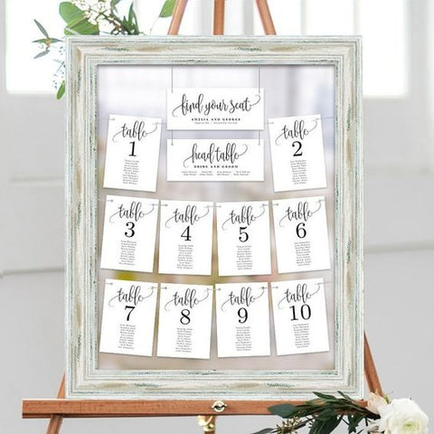 Printable Wedding Seating Chart - Table Seating Plan