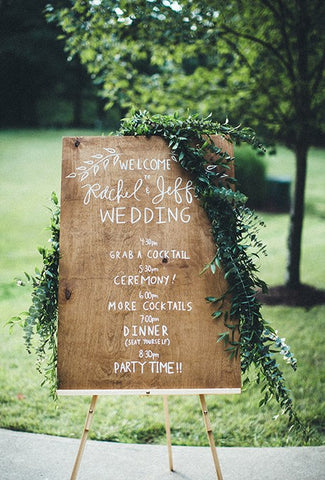 Welcome Wedding Schedule Sign