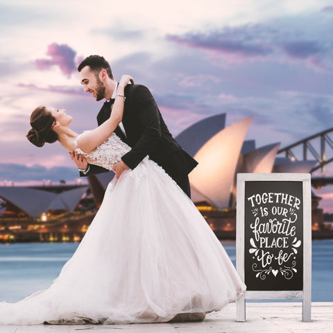 Buy Rustic Vintage Framed Chalkboards Wedding Sydney