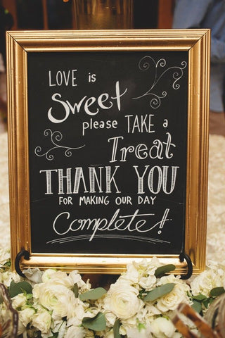 Love is Sweet wedding reception sign