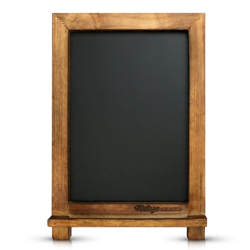 Antique Wood Small Rustic Framed Chalkboard Easel - Vintage by Kaimi