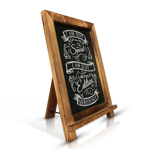 Antique Wood Rustic Cafe Chalkboard Easel - Vintage by Kaimi