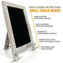 Small White-Washed Vintage Handcrafted Chalkboard Easel Australia