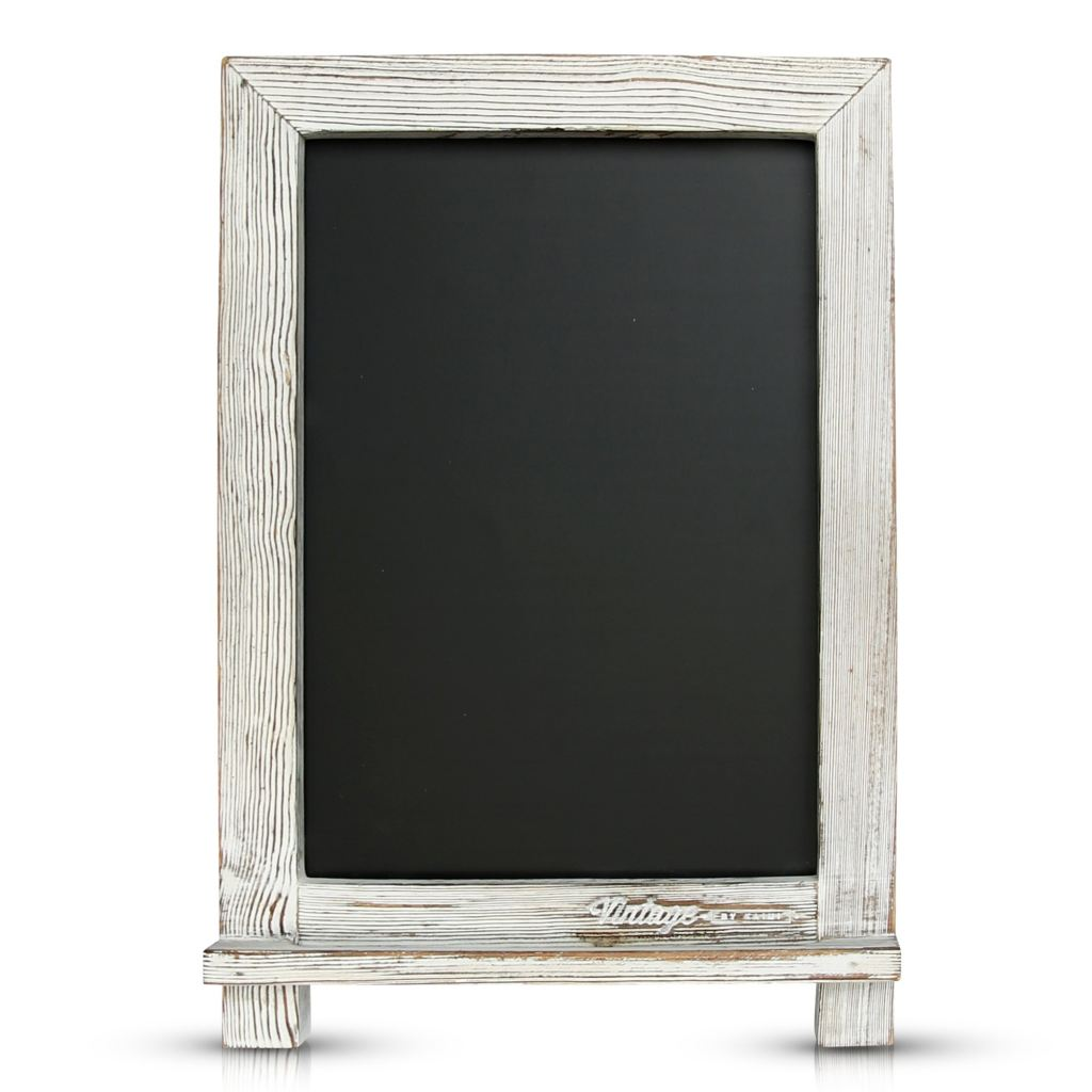 White Rustic Wedding Chalkboard Easel - Vintage by Kaimi